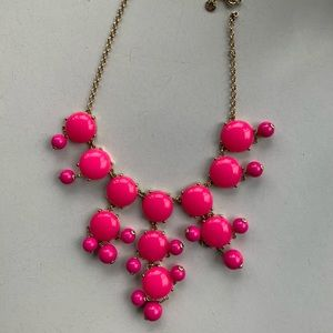 J. Crew Pink Bauble Statement Necklace